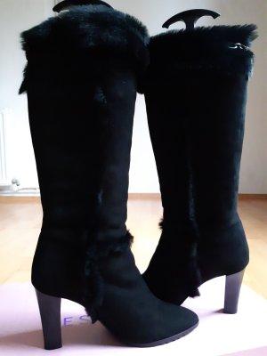Escada Botas de tacón alto negro Cuero