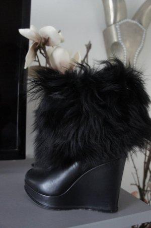 ESCADA Stiefel Größe 38 wedge TOP Echtpelz