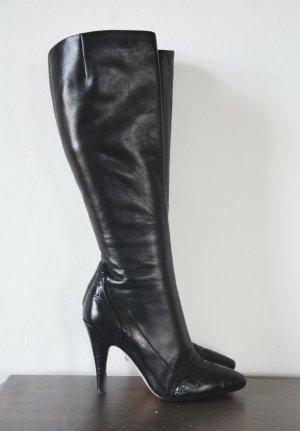 Escada Heel Boots black leather