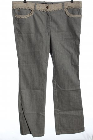 Escada Straight-Leg Jeans hellgrau meliert Casual-Look