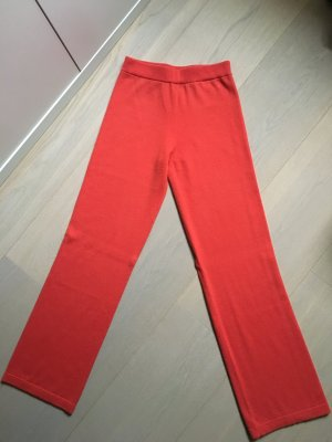 Escada Woolen Trousers bright red wool