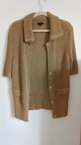 Escada Short Sleeve Knitted Jacket gold-colored viscose