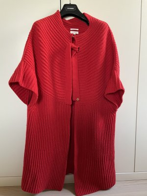 Escada Knitted Coat red cashmere