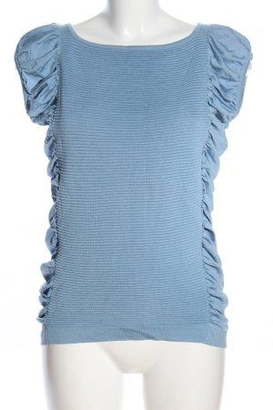Escada Camicia maglia blu stile casual