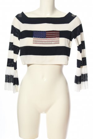 Escada Knitted Top white-black themed print casual look