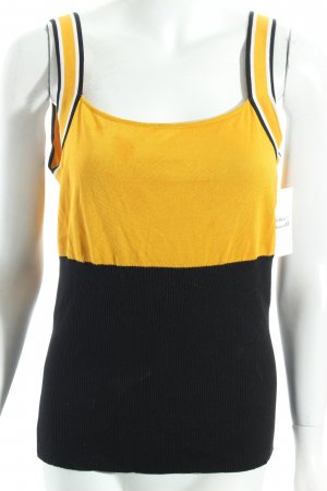 Escada Knitted Top yellow-black classic style