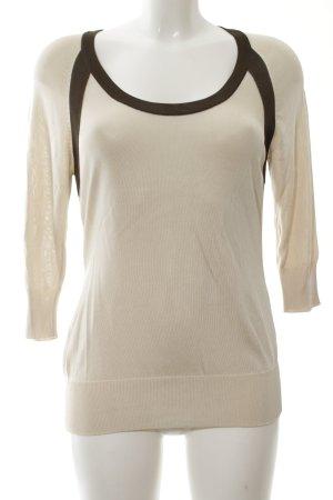 Escada Sweatshirt wollweiß-schwarz Casual-Look