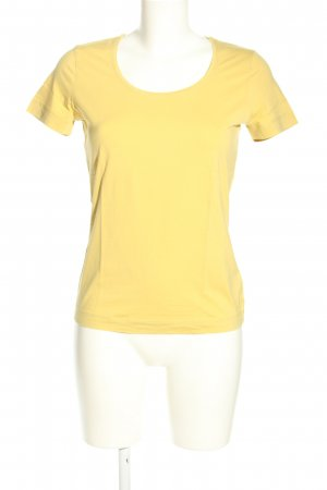 Escada T-Shirt blassgelb Casual-Look