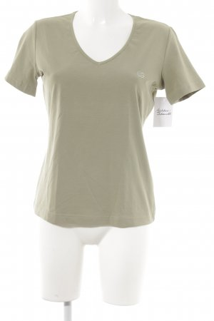 Escada T-Shirt grüngrau Casual-Look