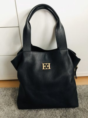 Escada Bolsa Hobo negro-color oro Cuero