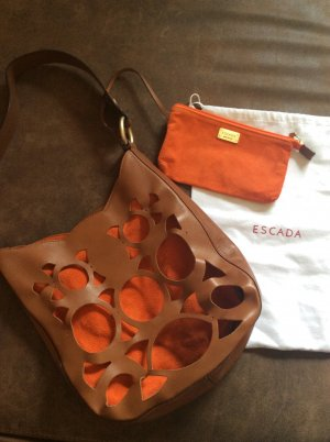 Escada Tasche braun/ orange mit Staubbeutel