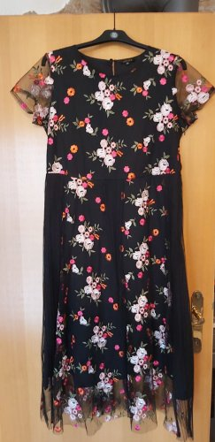 Escada - traumhaftes Kleid mit bunten aufgestickten Blümchen # Grösse D 40