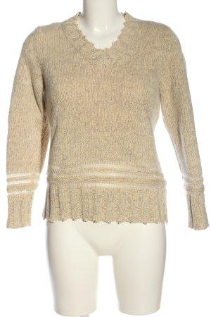 Escada V-Ausschnitt-Pullover wollweiß Casual-Look