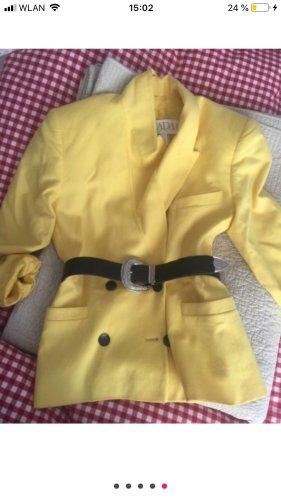 Escada Margaretha Ley Blazer en laine jaune cachemire