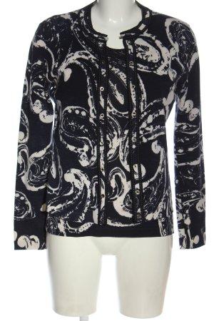 Escada Ensemble tissé noir-blanc motif abstrait style décontracté