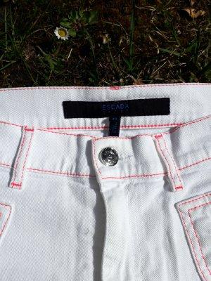 ESCADA weisse Jeans mit pinken Nähten