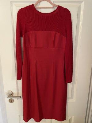 Escada Corsage Dress red wool