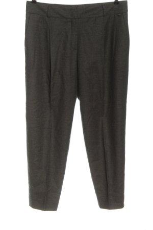 Escada Pantalon en laine gris clair moucheté style décontracté