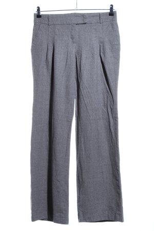 Escada Pantalone di lana grigio chiaro puntinato stile professionale