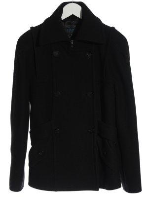 Escada Cappotto in lana nero stile professionale