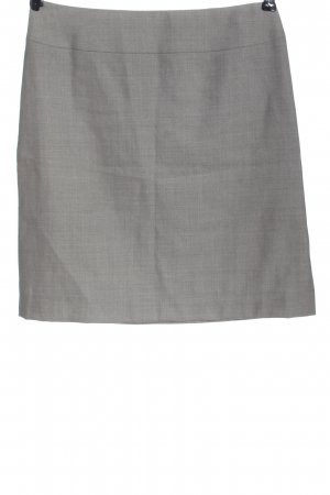 Escada Gonna di lana grigio chiaro puntinato stile professionale