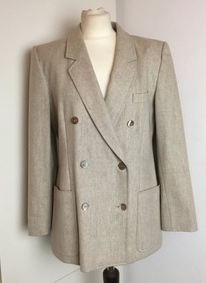 Escada Boyfriend Blazer oatmeal-light grey wool (merino wool)