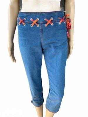 Escada 3/4 Length Jeans cornflower blue-orange