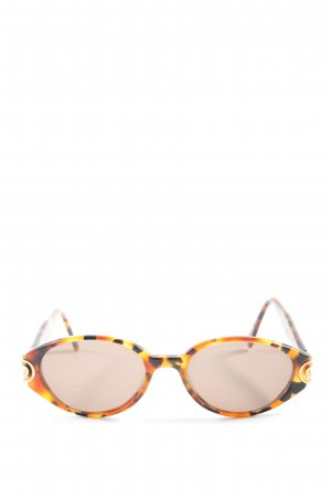 Eschenbach Oval Sunglasses light orange-black abstract pattern casual look