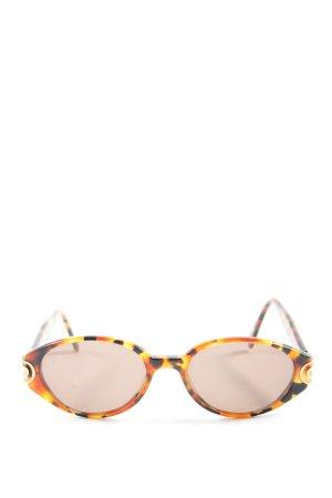 Eschenbach Occhiale da sole ovale arancione chiaro-nero motivo astratto