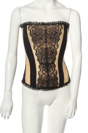 ESCORA Gorset czarny-w kolorze białej wełny W stylu casual