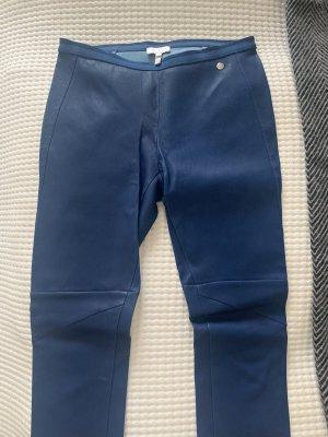 Escada Pantalone in pelle blu