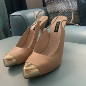 Escada Slingback Pumps beige-gold-colored