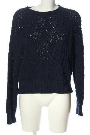 ESISTO Szydełkowany sweter niebieski Warkoczowy wzór W stylu casual