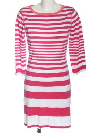 ESISTO Langarmkleid pink-weiß Streifenmuster Casual-Look