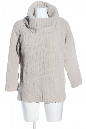 ESISTO Strickpullover wollweiß Zopfmuster Casual-Look