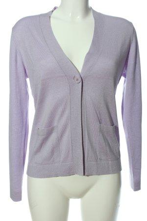 ESISTO V-Ausschnitt-Pullover lila Casual-Look