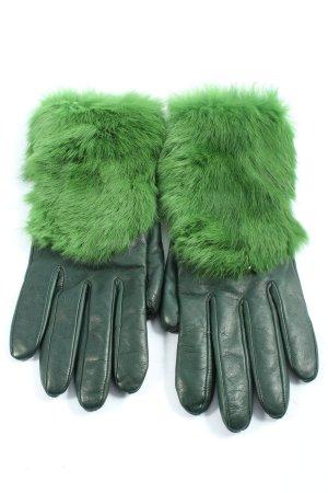 ESKA Rękawiczki z imitacji skóry zielony W stylu casual