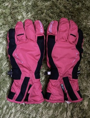 Guanto termico rosa-rosso lampone