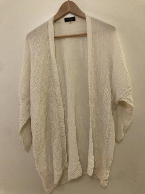 Eskandar Chaqueta tipo blusa blanco puro Viscosa
