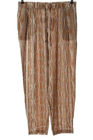 Esmara Baggy Pants braun-wollweiß abstraktes Muster Casual-Look