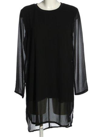 Esmara Robe chemisier noir Motif de tissage style décontracté