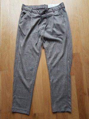 Esmara Pantalone jersey nero-rosso scuro