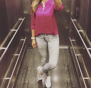 Esmara by Heidi Klum Bluse 36 S pink fuchsia Top Neu