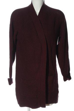 Esmara by Heidi Klum Kardigan brązowy Warkoczowy wzór W stylu casual