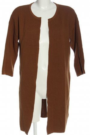 Esmara by Heidi Klum Cardigan brun motif rayé style décontracté