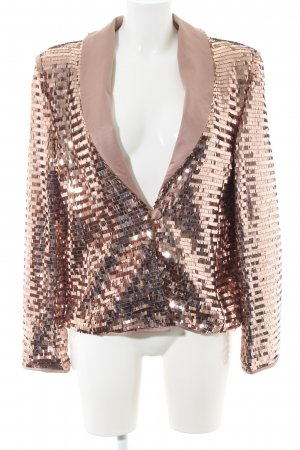 Esmara by Heidi Klum Kurz-Blazer bronzefarben Streifenmuster extravaganter Stil