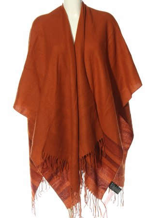 Esmara Poncho red-brown striped pattern casual look