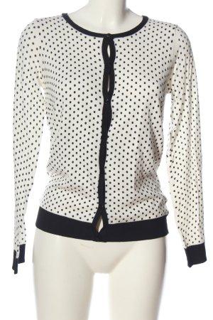 Esmara Cardigan weiß-schwarz Punktemuster Elegant