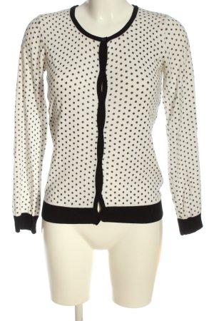Esmara Cardigan weiß-schwarz Punktemuster Casual-Look