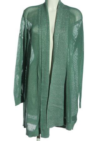 Esmara Cardigan grün-silberfarben Zopfmuster Elegant